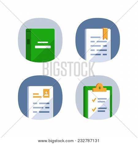 Exam Preparation, Subject Learning Course, Educational Resources, Book Reading, Assignment Concept,