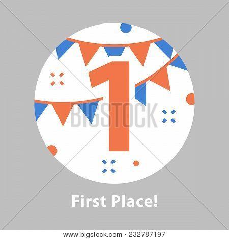 First Place, Award Ceremony, Number One, Celebrating Event, Successful Accomplishment, Reward Progra