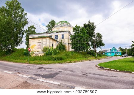 Torzhok, Russia - July 16, 2017: Provincial Russian Town Of Torzhok In Summer Sunny Day. View On The