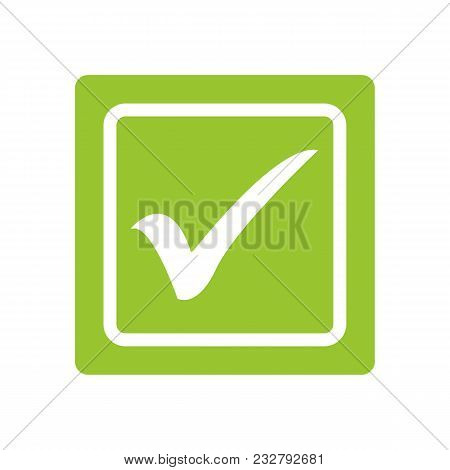 Green Tick. Green Check Mark. Tick Symbol, Icon, Sign In Green Color. Done. Stock Vector Illustratio