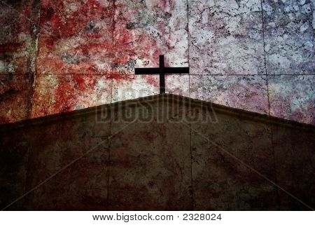 Cross Symbol on artistic colourful background #2 poster