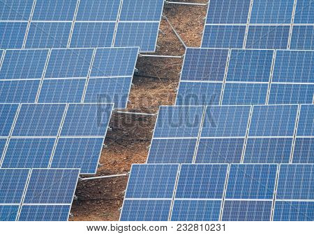solar panels in a photovoltaic power station