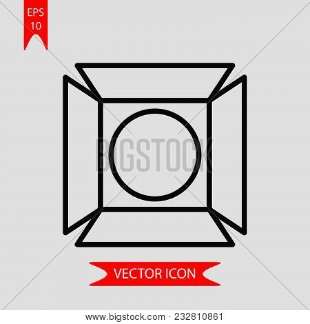 Cinema Light Icon Vector In Modern Flat Style For Web, Graphic And Mobile Design. Cinema Light Icon