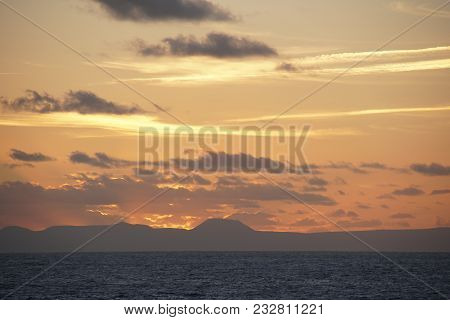 The Atlantic Ocean. Expanses. Mid-ocean  Sky Clouds. A Game Of Sunlight.