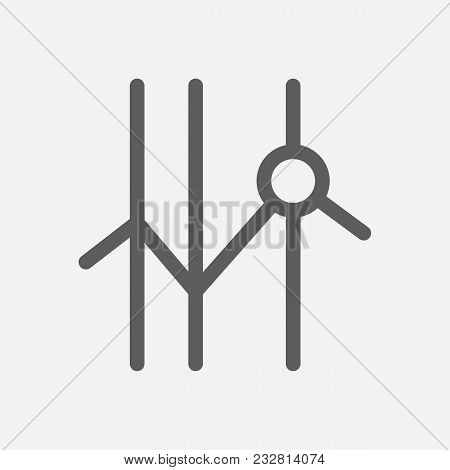 Stock Icon Line Symbol. Isolated Vector Illustration Of  Icon Sign Concept For Your Web Site Mobile