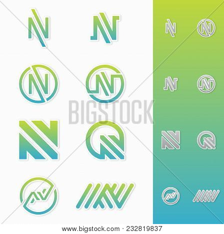 Best Simple Vector Letter N Logo Icon Alphabet Design Abstract Business