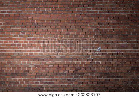 Brick Texture Wall With Vignetting Selective Lightning