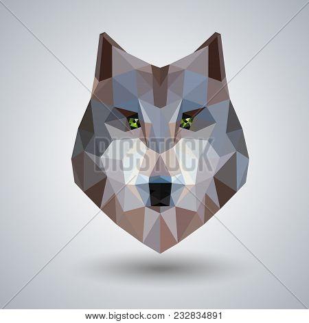 Abstract Polygonal Tirangle Animal Wolf. Hipster Animal Illustration.