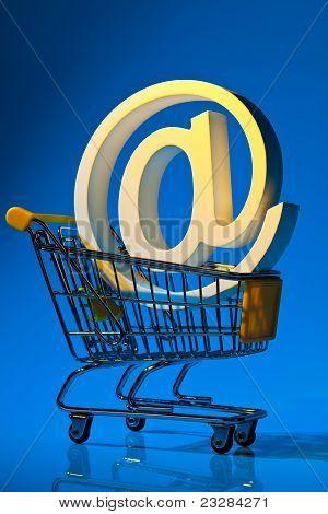 Shopping carts and computer keyboard