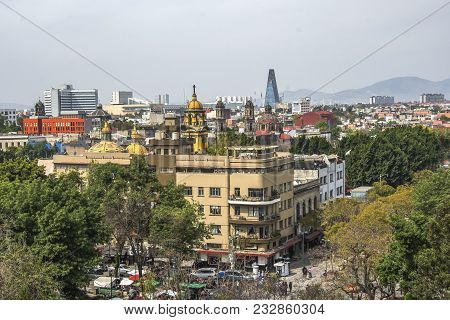 Panoramic View Of Historical Building In Mexico City, Mexico