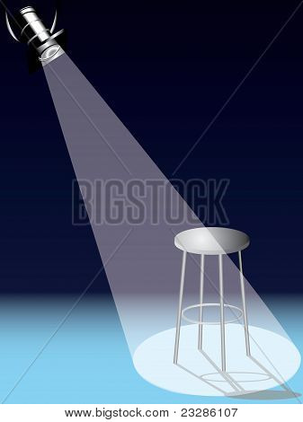 Chair under spotlight vector