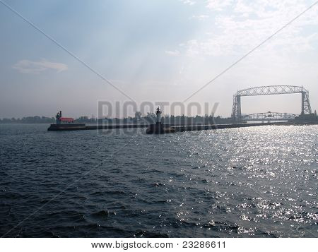 Duluth Harbor Entrence
