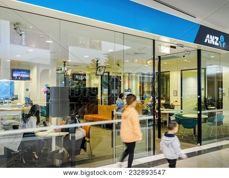 Sydney, Australia - Jun 16, 2017: An Australia And New Zealand (anz) Bank Store Office At Chatswood
