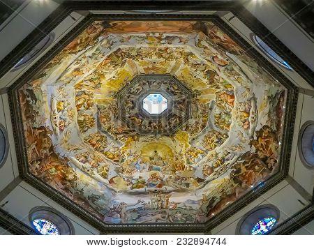 Rome, Italy - 08/13/2012 -  Duomo - Vasaris Last Judgement Beneath Dome