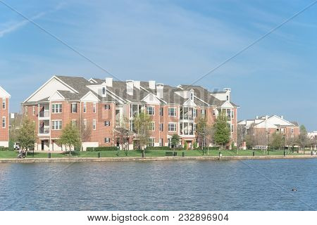 Condo Apartment Homes Overlooking Community Lake In America