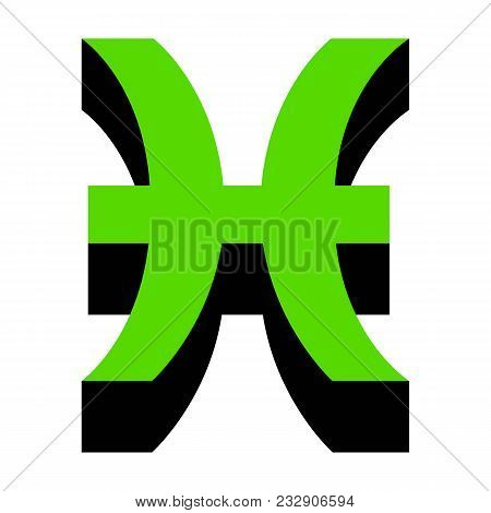Pisces Sign Vector Photo Free Trial Bigstock