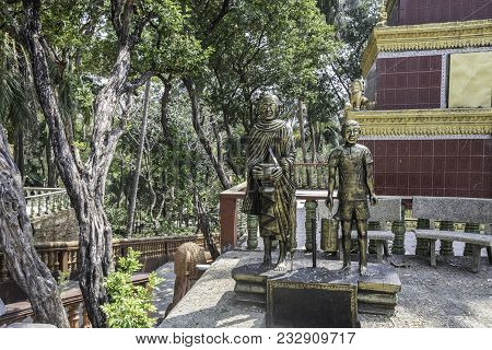 View Of The Vicinity Of The Wat Leu Temple In The Cambodian Jungle Sihanoukville Cambodia