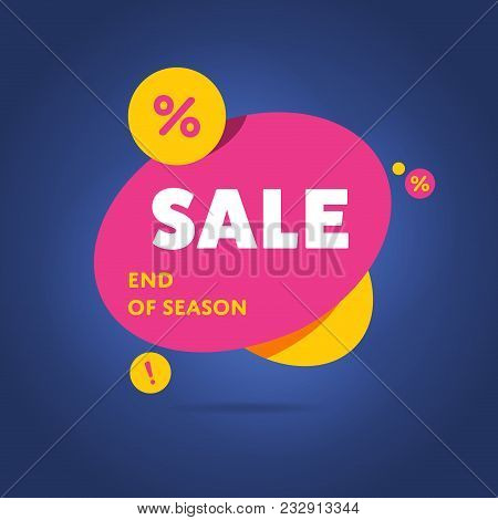 Exclusive Sale Advertising Promotional Banner With A Special Offer End Of Season Text Flat Abstract