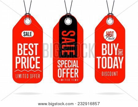 Sale Tag Raster Isolated. Sale Sticker With Special Advertisement Offer. Best Price Tag. Buy Today T
