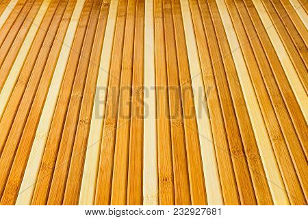 Perspective Striped Background From Thin Wooden Slivers