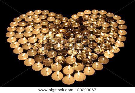 heart candlestick