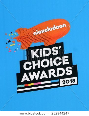 LOS ANGELES - MAR 24:  2018 Kids Choice Awards Backdrop detail at the 2018 Kid's Choice Awards at Forum on March 24, 2018 in Inglewood, CA