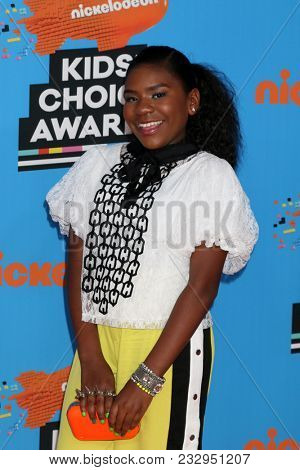LOS ANGELES - MAR 24:  Trinitee Stokes at the 2018 Kid's Choice Awards at Forum on March 24, 2018 in Inglewood, CA