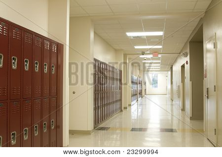 Hallway at High School