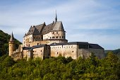 Medieval Castle Vianden build on top of the mountain in Luxembourg or Letzebuerg poster