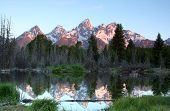 Schwabacher's Landing located in the Grand Teton National Park. poster