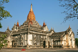 White Ananda Temple In Bagan, Myanmar (burma).