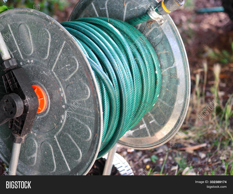 Green Gardening Hose Image Photo
