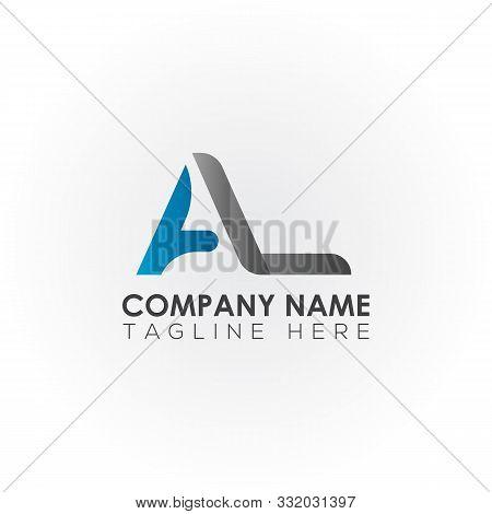 Letter Al Simple Logo Vector. Logotype Al Letter Design. Al Font Type Logo. Al Letter Logo. Typograp