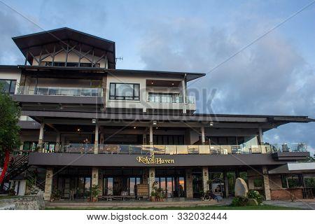 Kota Kinabalu, Sabah / Malaysia - October 18 2019: Kokol Haven Resort On Hilltop In Kota Kinabalu, S