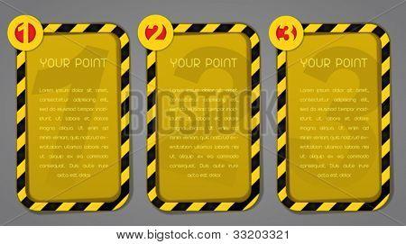One, Two, Three Warning / Danger progress labels