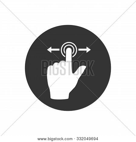 Gesture Touch Slide Vector Icon, Gesture Slide Vector Icon