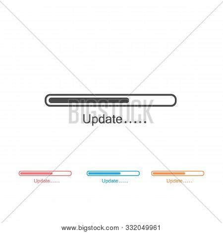 Loading Process. Update System Icon Set. Concept Of Upgrade Application Progress Icon For Graphic An