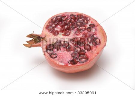 Pomegranate on a white background.