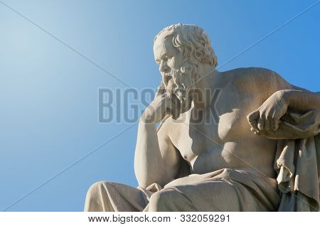 Classical Statue Of Greek Philosopher Socrates From Side