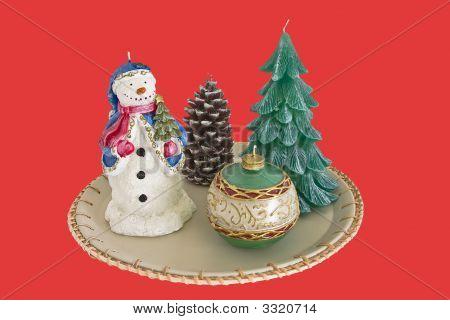 Holiday Candle Arrangement