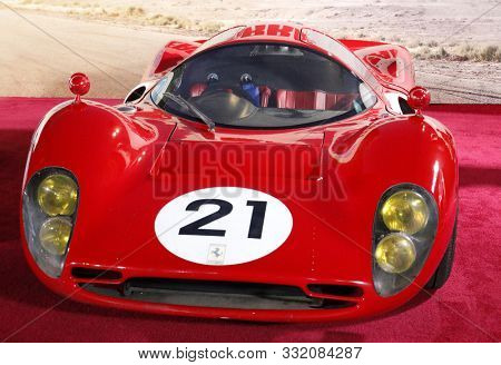1966 Ferrari P3 at the Los Angeles premiere of 'Ford V Ferrari' held at the TCL Chinese Theatre in Hollywood, USA on November 4, 2019.