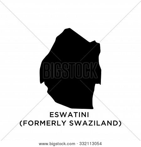 Eswatini (formerly Swaziland) Map Vector Design Template