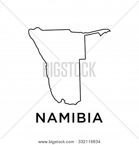 Namibia Map Icon Trendy Vector Design Template