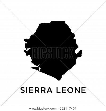 Sierra Leone Map Icon Vector Trendy Design Template