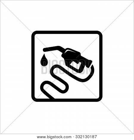 Gas Fuel Station Icon Vector Design. Petroleum Gasoline Pump Symbol Icon