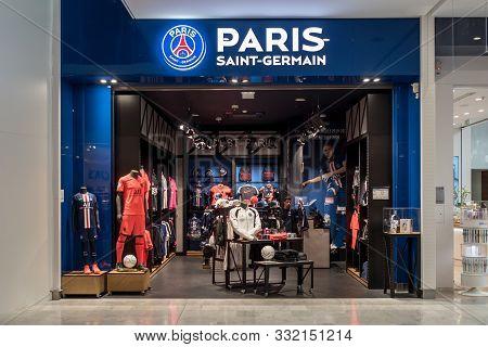 Paris Saint Germain Football Club Store In Roissy Charles De Gaulles Airport France 10.10.19