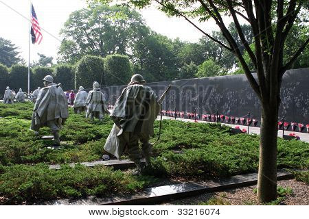 Sculptures At Korean War Veterans Memorial