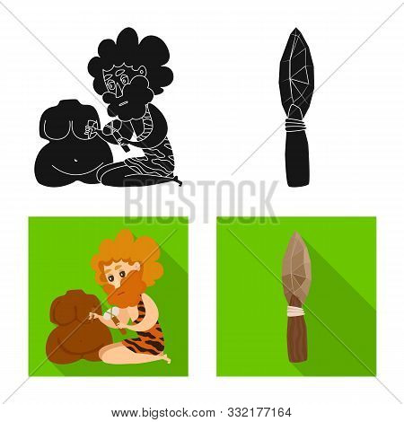 Isolated Object Of Evolution And Prehistory Symbol. Collection Of Evolution And Development Stock Ve
