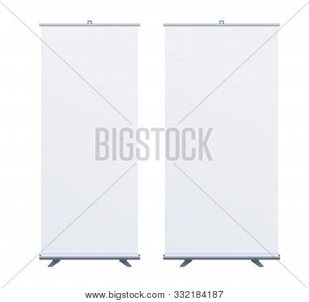 Roll Up Banner Stand On Isolated Clean Background01