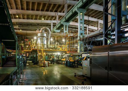 Chemical Factory. Elastomer And Thermoplastic Production Line